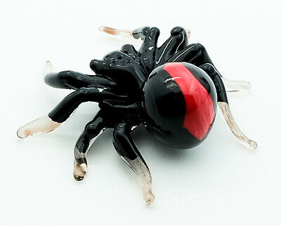 Figurine Animal Hand Blown Glass Halloween Spider - GPIS004