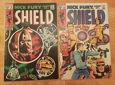 Nick Fury 10 & 12. 2 comic lot. Marvel silver age