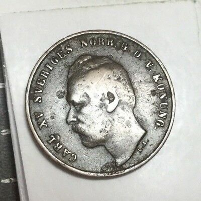 SWEDEN 1872 L.A. 1 Ore coin nice condition