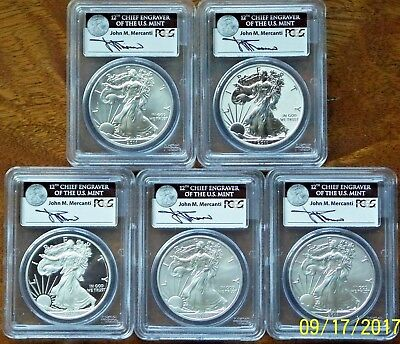2011 SILVER AMERICAN EAGLE 25th ANNIVERSARY SET ,MERCANTI, NO RESERVE ,FREE SHIP