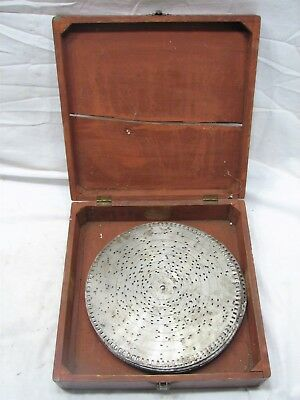 "Lot 32 Antique Music Box Player Discs 9-1/2"" Metal Records Victorian Edge Drive"