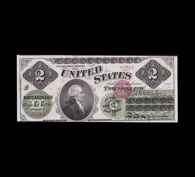 1862 $2 Legal Tender Almost Uncirculated Condition