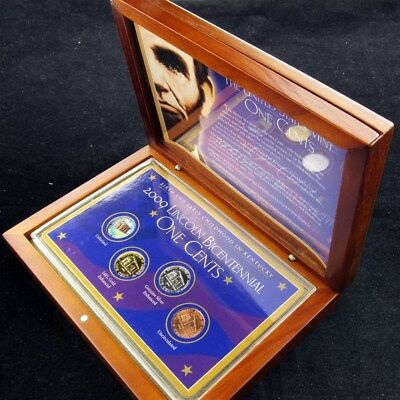 2009 Lincoln Bicentennial One Cent Set of 4 Pennies- With Collector's Box