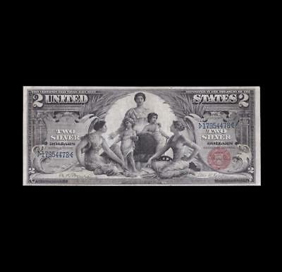 Rare 1896 $2 Silver Certificate Education Note Strong Very Fine