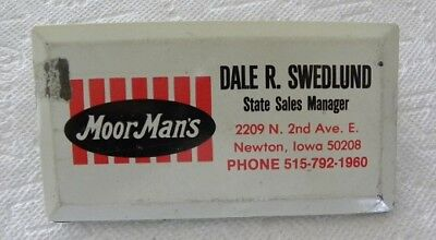 Dale Swedlund Sales Manager, Moormans Feed, Newton, Iowa IA Advertising Clip