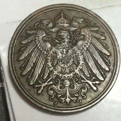 GERMANY 1912-J 1 Pfennig coin very nice condition