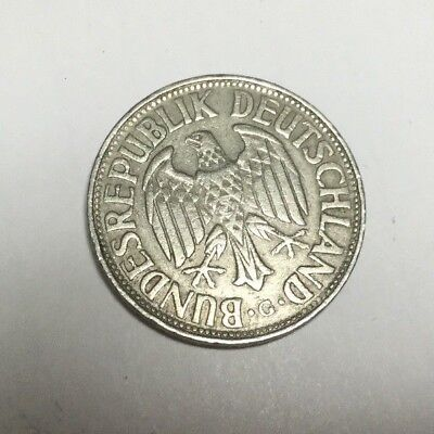 WEST GERMANY 1954-G 1 Mark coin circulated
