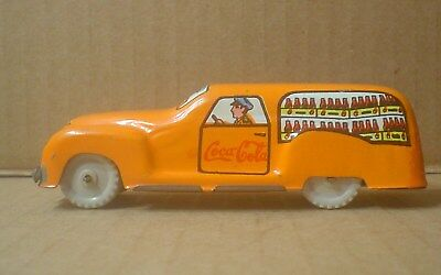 Coca Cola AM-BO Tin Delivery Truck with Plastic Knobby Wheels ~ Italy