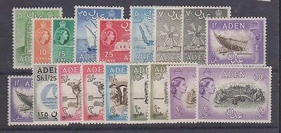 ADEN 48-61A Complete set to 20sh. Mint 1953-59 LH