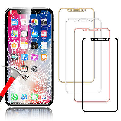 PREMIUM 3D FULL COVERAGE 9H TEMPERED GLASS SCREEN PROTECTOR For iPhone X XS U/A