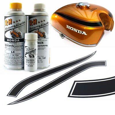Honda CB750 K0 Sandcast Candy Gold Custom Color Laque Paint Decal Stripe Kit