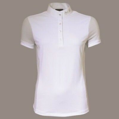 MARK TODD AMBER LADIES COMPETITION POLO SHIRT WHITE short sleeve for women