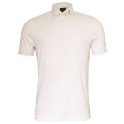 MARK TODD BRAD MENS COMPETITION POLO SHIRT WHITE horse riding wear for men