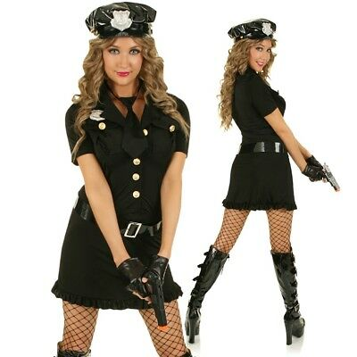 Cop Woman Police Officer Costume Hens Night Role Play Fancy Dress Party Outfit P