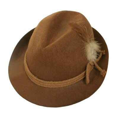 Adult Brown Oktoberfest Alpine Hat German Bavarian Party Costume Accessory