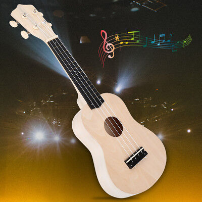 "21"" Ukulele Soprano Wooden Musical Instrument Hawaiian Guitar Uke Kit Gift DIY"
