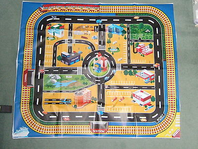 Giant Plastic Play Mat/ City Playmat For Use With Toy Cars - Roads/railway Line
