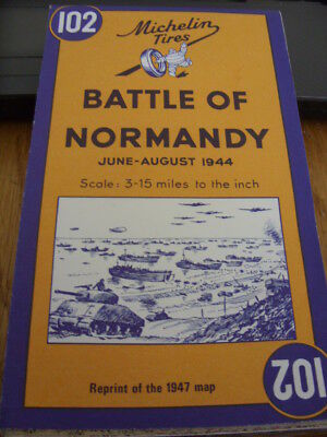 Battle of Normandy-June to August 1944-Reprint of the 1947 Map-Omaha/Juno/Gold