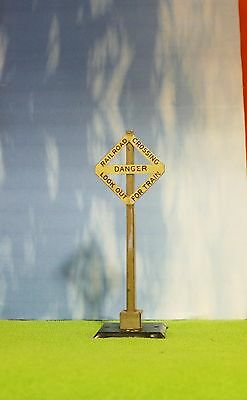 Vintage Train Accessory - Railroad Crossing Sign  -100% Original - 2 1217