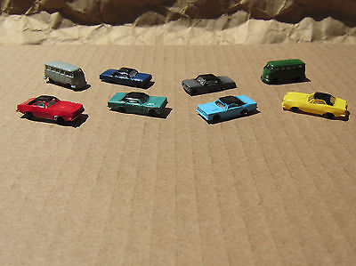 RETIRED ~ 8 New CLASSIC AUTOMOBILES by Bachmann ~ N Scale Lot ~ Mayhayred Trains