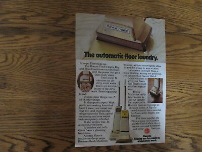 Vintage 1972,hoover Vacuum Print Ad Clipping