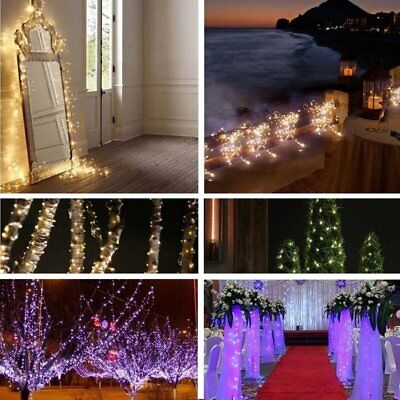 20M 200LED Solar Powered Warm White  Copper Wire Outdoor String Fairy Light MT