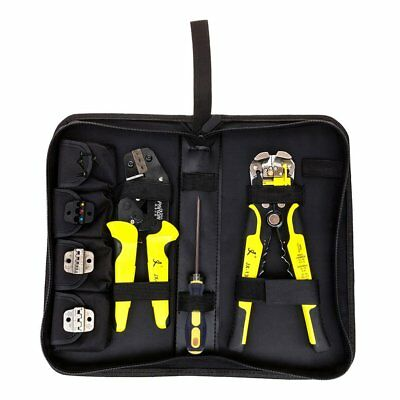 Functional JX-D4301 Ratchet Crimping Tool Wire Strippers Terminals Pliers MT