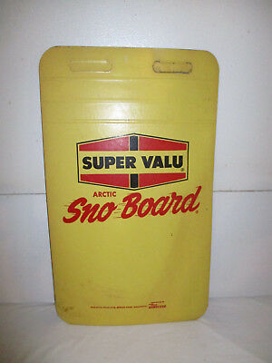 Vintage Super Valu Arctic Sno Board Grocery Store Advertising Snowboard