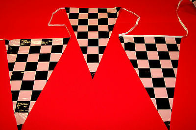 100ft CHECKERED RACING 48 PENNANT FLAG BANNER GRAND OPENING SALE STREAMER STRING