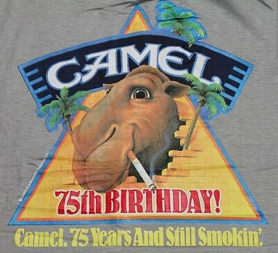 M * NOS vtg 80s 1988 joe CAMEL cigarette pocket t shirt