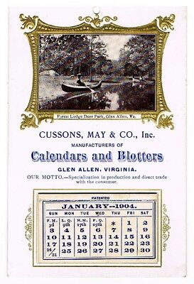 Cussons, May & Co., Inc. 1904 advertising calendar
