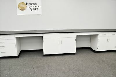 22' x 15' Fisher American Base Laboratory Cabinets / Case Work / Benches / Tops