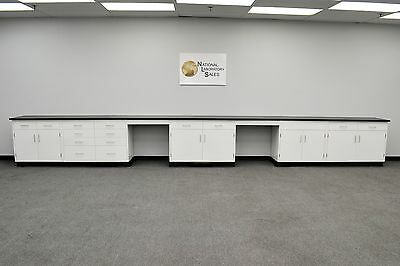 24′ Fisher American Base Laboratory Cabinets / Case Work / Benches / Tops