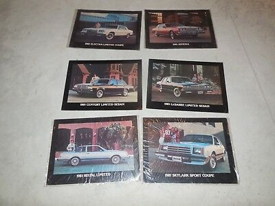 1981 Buick Dealer Showroom Posters!! Six Posters All For One Bid!!!!!