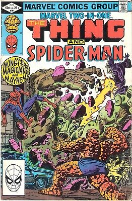 Marvel Two-in-One #90 The Thing and Spider-man August 1982 Eyes of the Sorcerer!