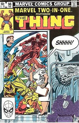Marvel Two-in-One #96 The Thing February 1983 Spider-man Wolverine Daredevil HTF