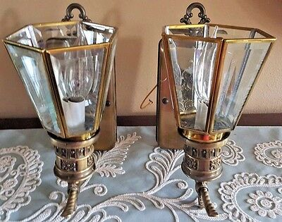 Vintage Gothic Medieval  2 Iron Metal  Wall Sconce Lights Outdoor Porch Lights
