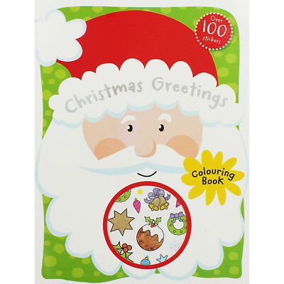 Christmas Greetings Colouring Book (Paperback), Children's Books, Brand New