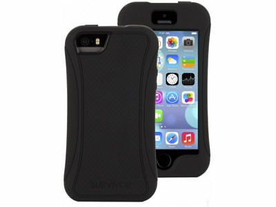 GRIFFIN Survivor Slim Case for Apple iPhone 6 / 6s Black with Screen Protector