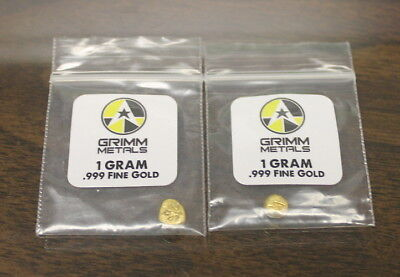 2- Grimm Metals, 1 gram Gold Rounds