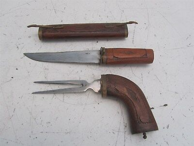 Antique Knife set hand-carved in India