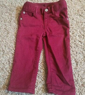 Baby Gap size 12-18 month maroon my first straight jeans