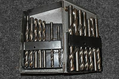 Hanson Drill Index w bits Metal Toolbox Storage 1/16 - 1/2 by 1/64 Gray AGBD