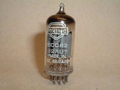MULLARD ECC 82 with square getter, long plate and k61 code -new-