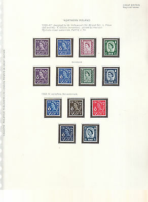 Northern Ireland Wilding/machin 1958-1970  Complete Umm/mnh
