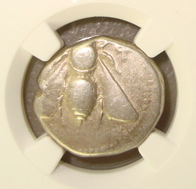 ca. 390-325 BC Ionia, Ephesus Bee / Stag Ancient Greek Silver Tetradrachm NGC