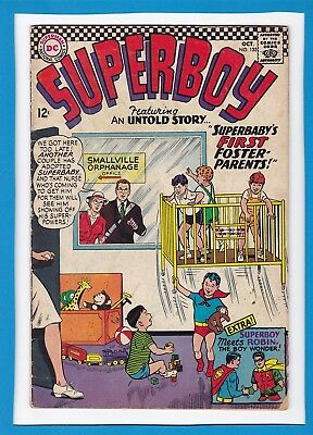 """Superboy #133_October 1966_Good/very Good_""""superbaby's First Foster Parents""""!"""