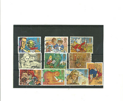 GB set of 10 1994    used  stamps' Messages '