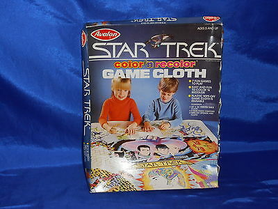 Star Trek The Motion Picture Color 'N Recolor Game Cloth Sealed Avalon 1979 EXC