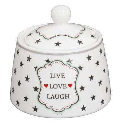 Krasilnikoff Zuckerdose Live Love Laugh